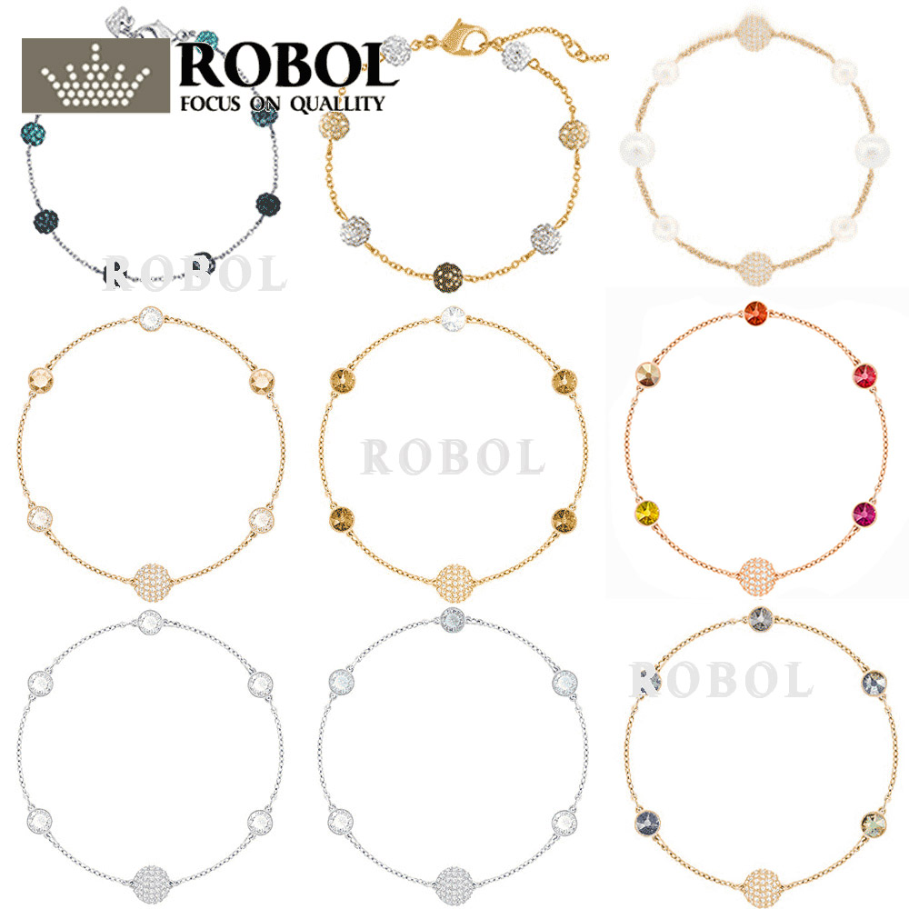 ROBOL High Quality Swa Original bracelets Women Jewelry Making For Women Wholesale Brand 1:1 Production Free Shipping Gifts For mjjc brand foam lance for karcher 5 units package free shipping 2017 with high quality automobiles accessory