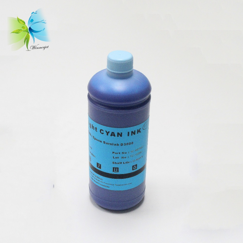 Winnerjet 1000ML X 6 Colors Special Dye ink for Epson D3000 with one time use chip