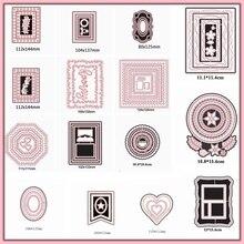 Скрапбукинг самодельная открытка с квадратным круговым сердечком, альбом для изготовления рукоделия, Обложка, высечка, новинка