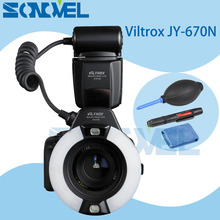 Viltrox JY-670N Camera Macro Close-Up TTL Ring Flash Speedlite for Nikon D7500 D7200 D5600 D3300 D5200 D810 D800 D750 D500 D5 D4(China)