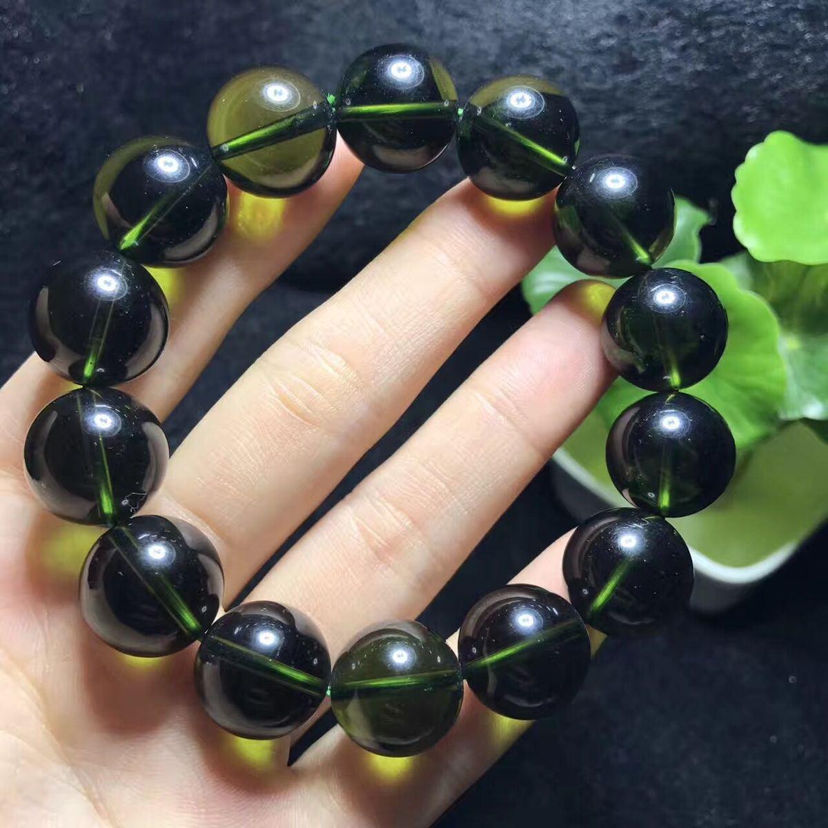 Quality Goods Crystal Czekh Meteorite Ball Bracelet Hand String Atmosphere Green Single Circle Ornaments Gift Green Meteorite цена 2017