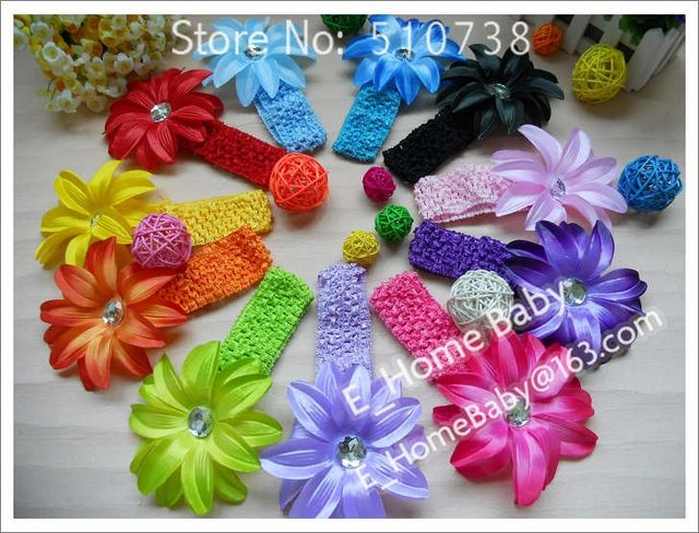 Baby Toddler Hat Beanie Flower Headband Lily Flower Hairclips New Handmade Crochet Headbands 240pcs