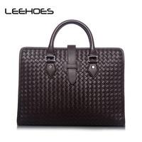 Designer Handbags Men S 14 Inch Laptop Bag Male Split Leather Messenger Bags Handmade Classic Totes