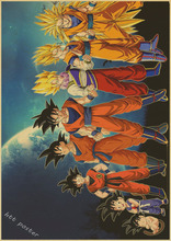 Vintage Style Dragon Ball z Wall Stickers High Quality