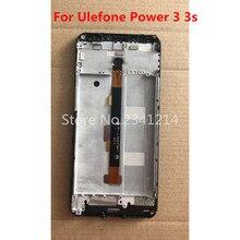 Novo original para ulefone power 3 s celular 6.0 display display lcd com moldura + tela de toque digitador assembléia reparação acessórios