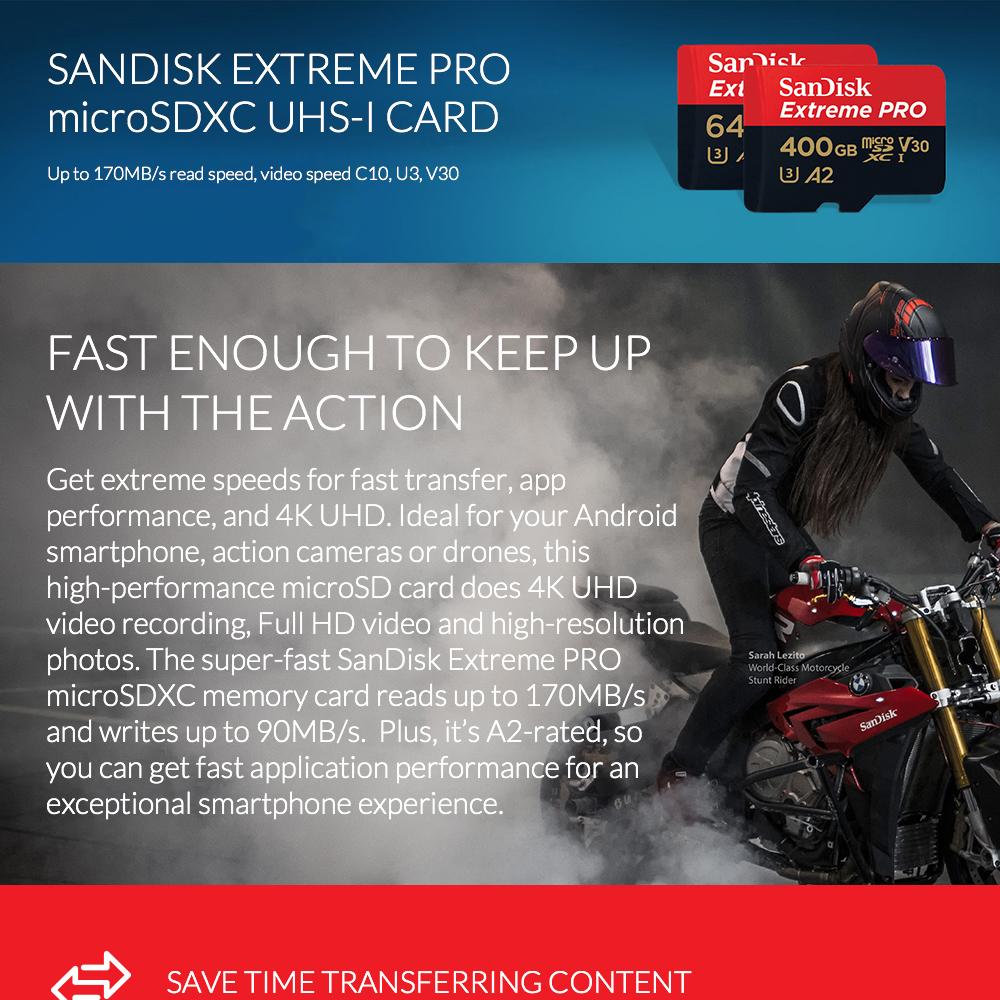 Tarjeta de memoria SanDisk Extreme Pro 1
