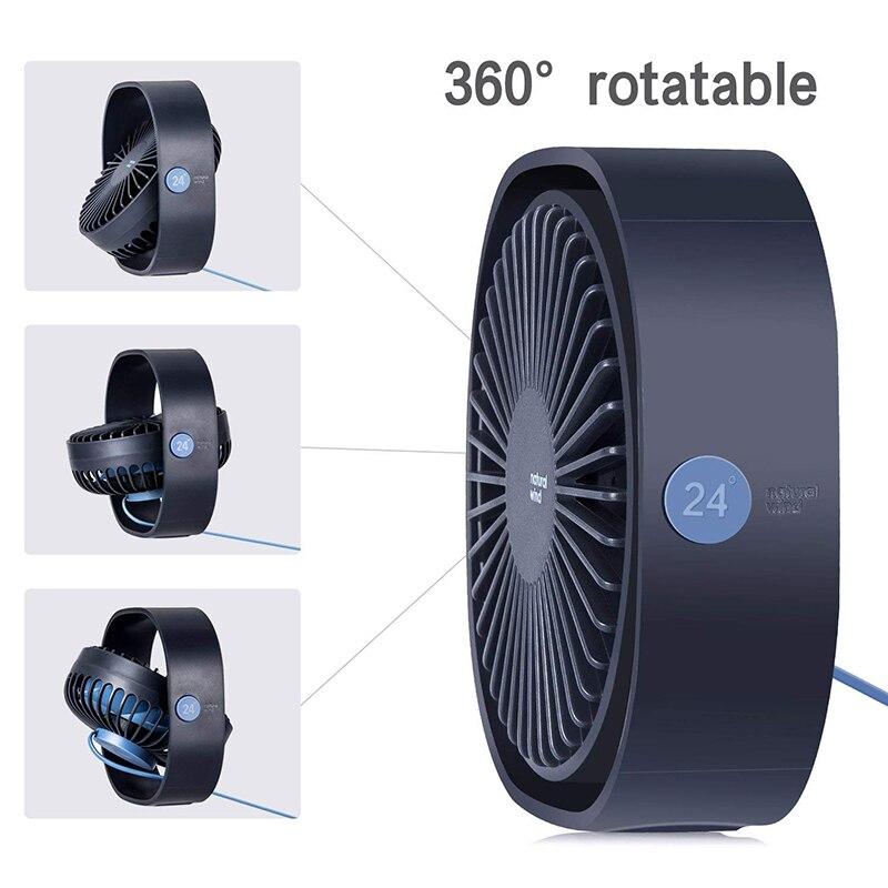 360 Rotation 3 Speed  Mini Fan 2