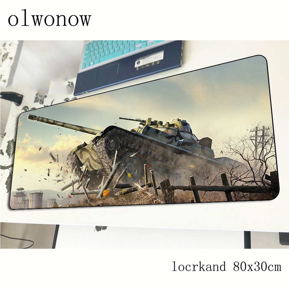 World Of Tanks Mousepad 80x30cm Gifts Gaming Mouse Pad Gamer Mat Christmas Game Computer Desk Padmouse Keyboard Large Play Mats