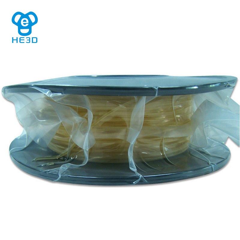 цена HE3D Natural color 3d printer PVA filaments Water-soluble PVA 1.75mm plastic Consumables Material MakerBot/RepRap/UP/Mendel