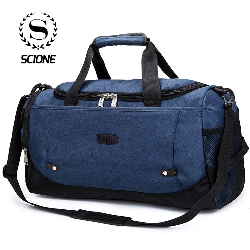 Scione Unisex Large Travel Luggage Bags Multi-function Duffel Shoulder Bag Casual Messenger Portable Pack With Shoes Storage