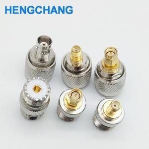 Image 2 - SL16 M type UHF to SMA PL259 to BNC SO239 to SMA RF connectors adapter 6pcs/lot