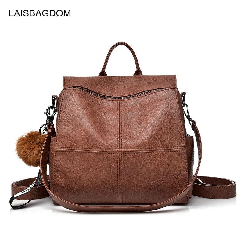 цена на 2018 New Fashion Women Backpack Genuine Leather Backpack Women Shoulder Bag School Sheepskin Real Leather Backpack Female