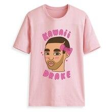 Hillbilly Cute Kawaii DRAKE Women Pink T-shirts 2018 Harajuku Graphic T Shirts for Tumblr Ulzzang Funny Tees