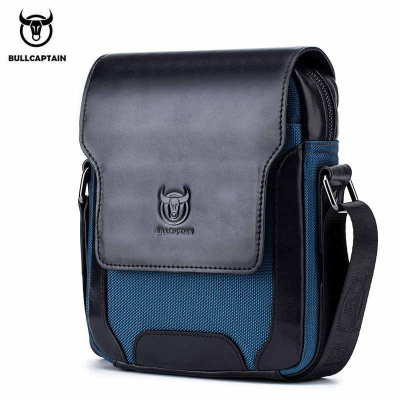 29e216e40d9a BULLCAPTAIN мужская сумка-почтальонка для мужчин пояса из натуральной кожи  сумки на плечо Бизнес Crossbody