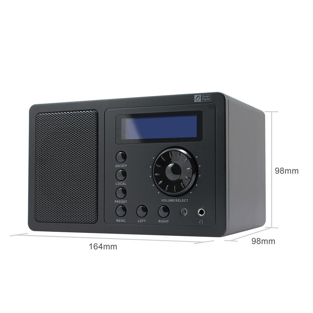 O-002 океан цифровой DB-220B DAB + FM Bluetooth радио с двойной будильник дистанционное управление и AC/DC мощность адаптер