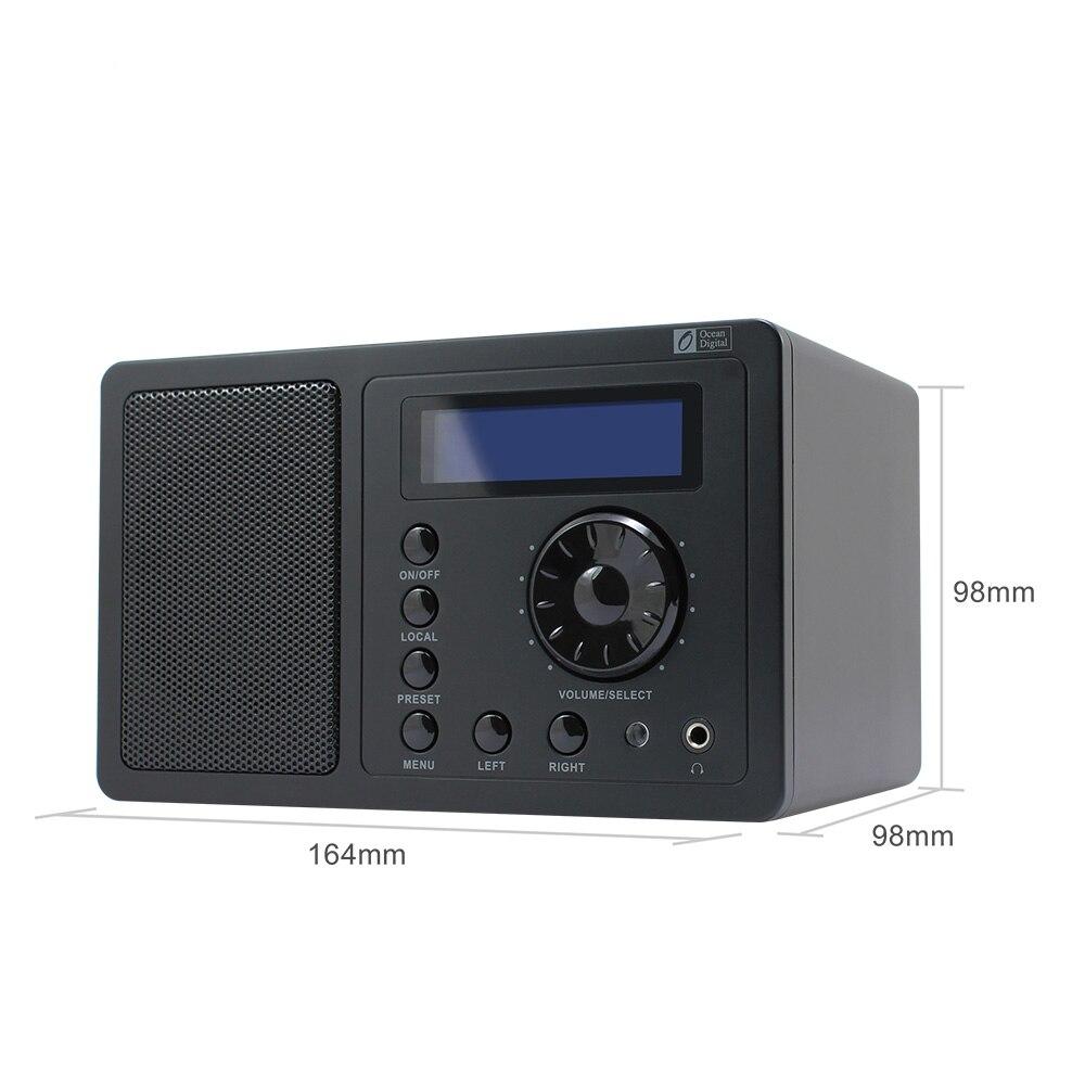 O-002 Ocean Digital DB-220B DAB+FM Digital Bluetooth Radio With Dual Alarm Clock Remote control and AC/DC Power Adaptor car bluetooth dab digital radio box adapter fm transmitter digital audio broadcasting dab europe