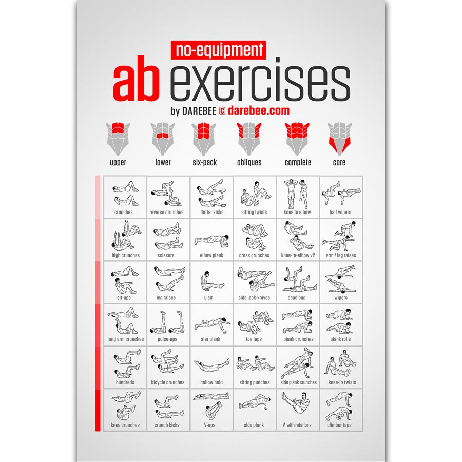 FX758 No Equipment Bodyweight Workout Fitness Muscle Home ...