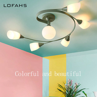 Colorful and beautiful LED Ceiling Lamp Children's Room Lighting Ceiling Lights Exhibition Hall Lamp abajour luminaria luster