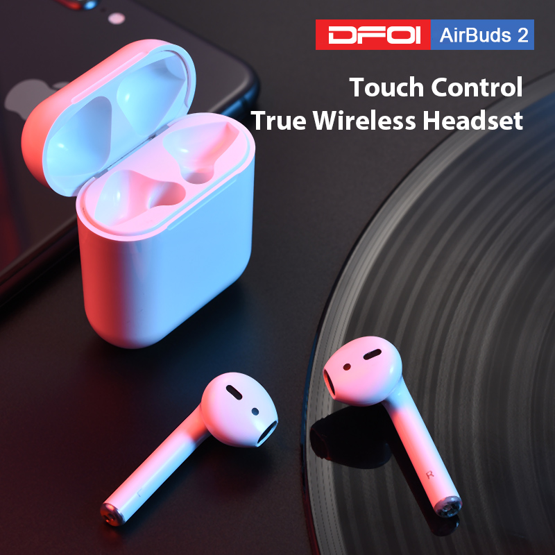 DFOI AirBuds 2 Wireless Earphone Bluetooth Headset True Wireless EarBuds Sports Bluetooth Earphones 5.0 Headphones Mini TWS HIFI(China)