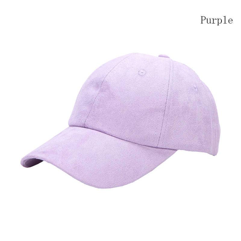 ad08a01ec Fashion Ladies Suede Baseball Caps Women Snapback Caps Solid Autumn Winter  Van Gorras Suede Hats Pink Gray Purple Blue Beige B80