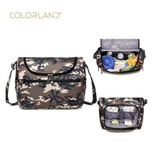 Colorland brand camouflage baby bag medium diaper shoulder slung storage casual pregnant women luggage car hanging