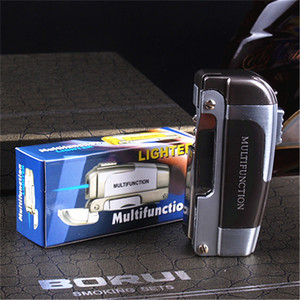 Image 3 - New Turbo Butane Jet Torch Lighter Pipe Lighter For Cigar Cigarette Multifunction Windproof With Knife NO GAS
