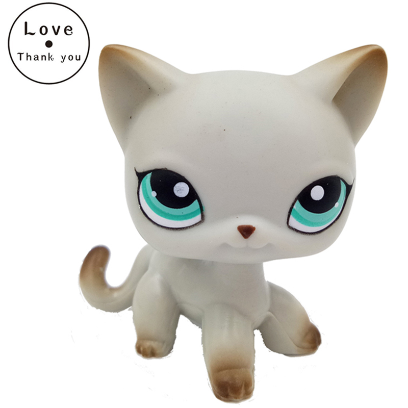 pet toys standing #391 rare Short Hair cat Egyptian Grey Blue Eyes old original pet collections lps collections pet shop cat great dane 817 white dog star eyes rare old collections figure toys christmas gifts