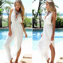 Summer Sexy Long Thin Straps Trousers Women Casual Boho Lace Sleeveless Backless Beach Jumpsuit New Vacation Club Party