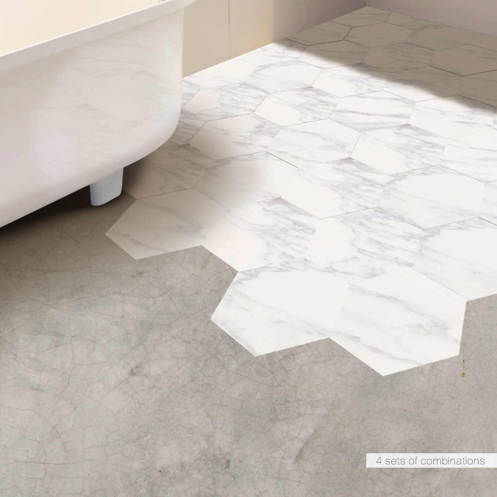 Imitation Marble Hexagonal Tile