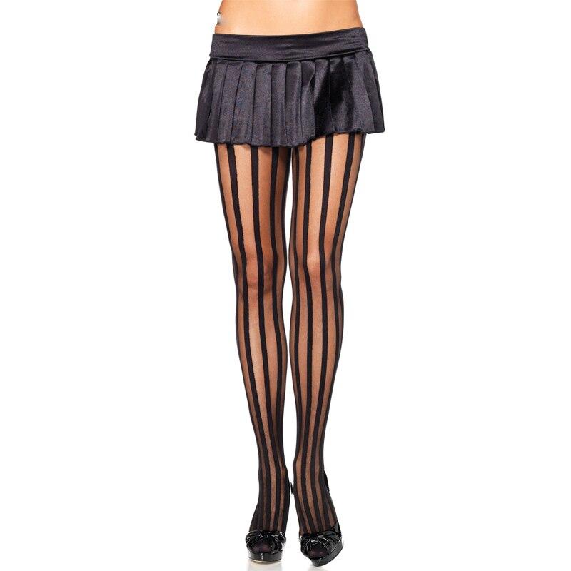 Spring Sexy Women Stockings Tights Women Nylon Pantyhose Collant Femme Harajuku Bowknot Transparent Black stripe girls SW154