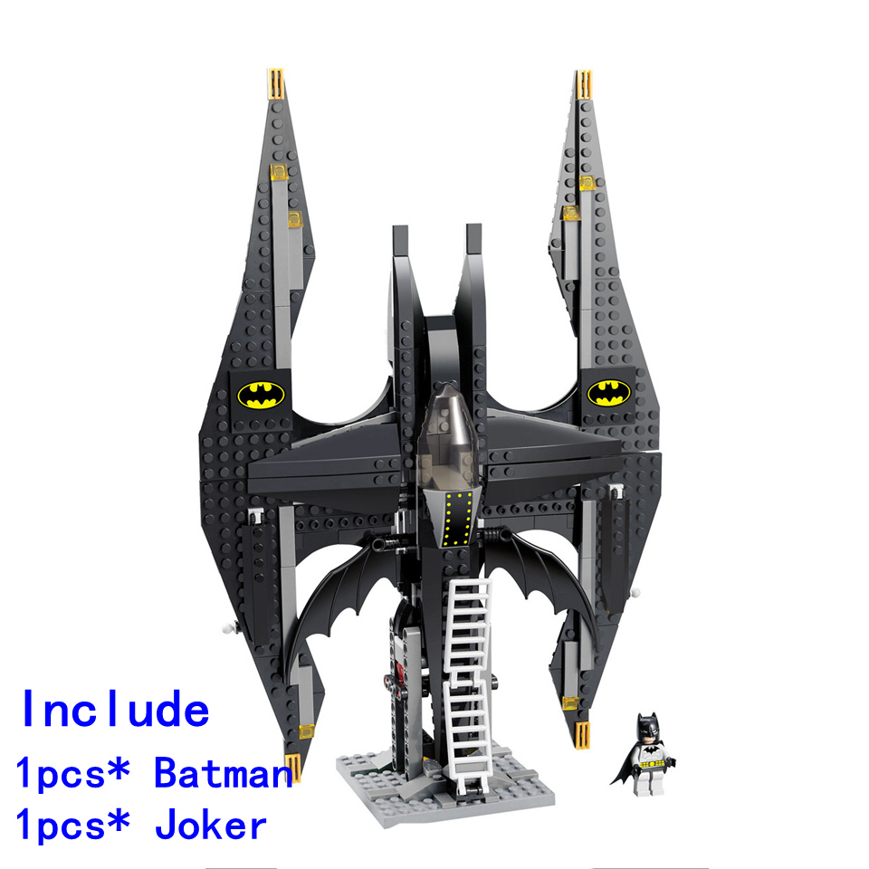 Anime Super Heroes Batman Series Bat Fighter Model Compatible with Legoe Action figures Joker Building Blocks Bricks Toys Gift