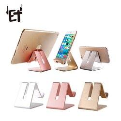 ET Universal Phone Holder Metal Anti-slip Cell Phone Holders Desktop Desk Mount Phone Stand for iPhone Smartphone Samsung Tablet
