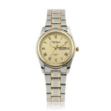 Любителей моды смотреть Элитный бренд полосы сплав пару позолоченный Roman Watch relojes-де-лос равных