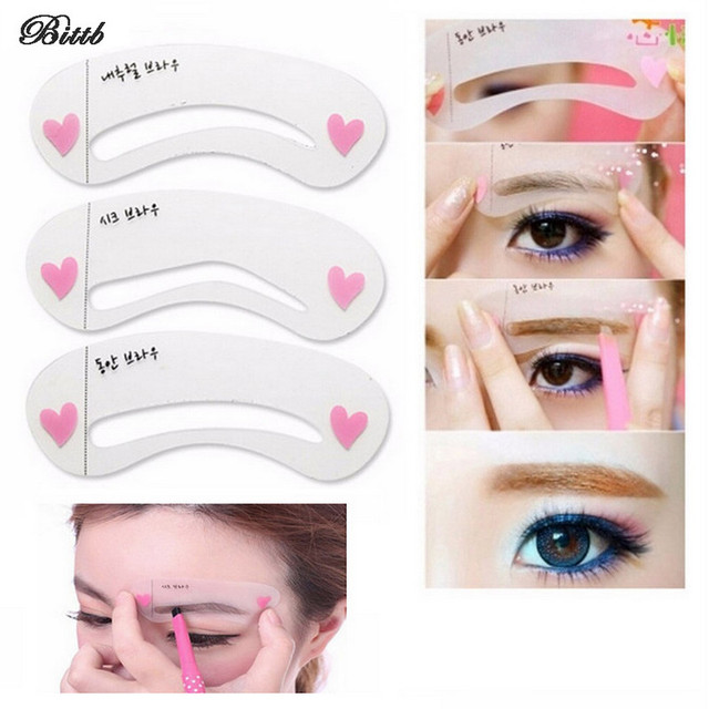 Bittb 50 Set Eyebrow Stencils Eyebrow Class Card Makeup Tool
