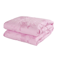 Summer Bamboo Fiber Air Conditioning Quilt Comforter Blanket Twin Full Queen King Size Pink Comforter Stiching