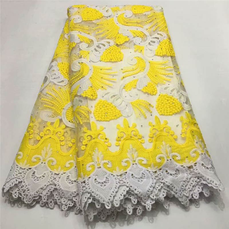ZQM!Hot Sale Nigerian Laces Fabrics High Quality African Milk Silk Lace Fabric Wedding African French Net Lace Fabric 5Y! P60901