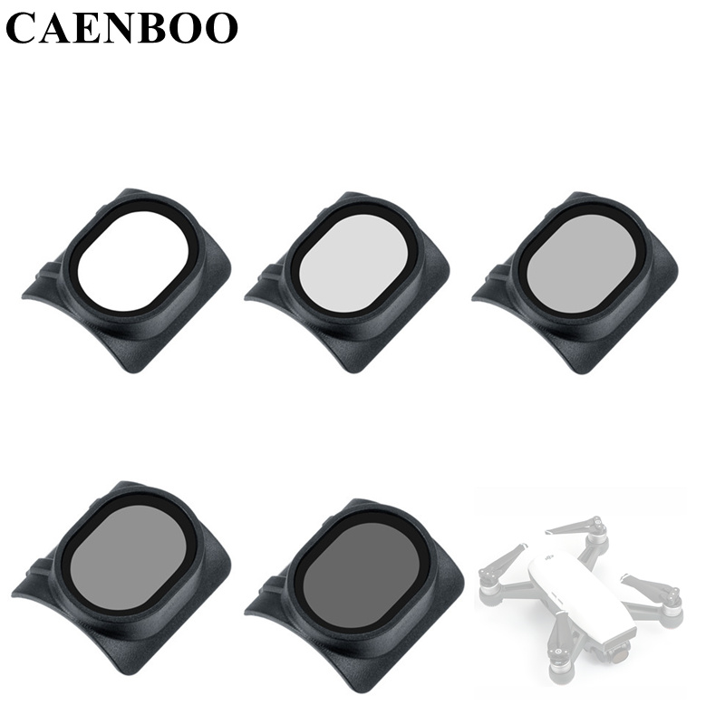 CAENBOO Lens Filter Protector UV+CPL+ND2 ND4 8 16 ND32 Star Filter Neutral Density Drone Quadcopter Accessories For DJI Spark