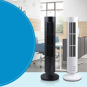 цена на Mini Portable USB Fan Summer Cooling Fan Bladeless Air Conditioner Cooling Cooler for Home Office Desk Tower Fan