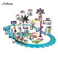 Stzhou 10563 1136 pcs Amis Parc D'attractions Roller Coaster Fille Bela Building Block 41130 Brique Jouet
