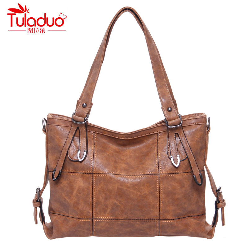 Women Handbags Fashion Scrub PU Leather Bag Women Tote Large Capacity Ladies Top-Handle Bags High Quality Ladies Shoulder Bags