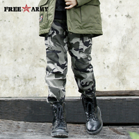 Brand straight twill cotton children camo pants for big boys camouflage trousers kids casual pants Military Pants 2018 Girls