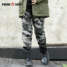 Brand straight twill cotton children camo pants for big boys camouflage trousers kids casual Military Pants 2018 Girls