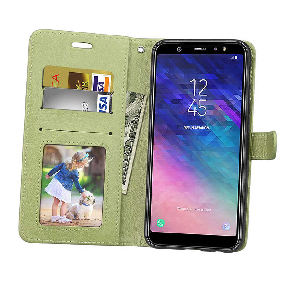 Voor Samsung J2 Pro 2018 Case Leer Voor Coque Galaxy J3 Pro Ster Amp Prime 3 J4 J5 J6 J8 j7 J1 Case Cover Cases Met Card Slot