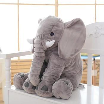 elephant plush pillow toy