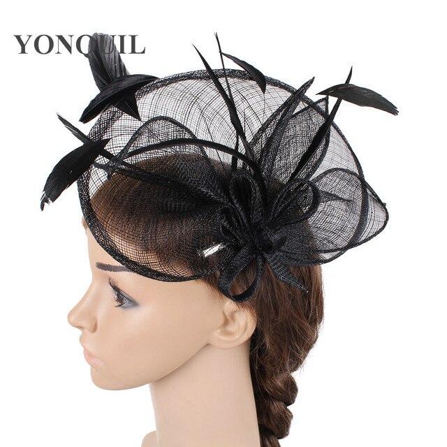 59398b156a5fd 2018 New Kenducky derby sinamay fascinators hat hair clip party show tea headwear  wedding royal ascot hair accessories SYF104