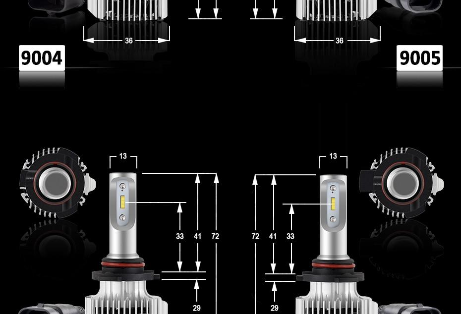CNSUNNYLIGHT Car LED H4 Compact Headlight H7 H11 9005 HB3 9006 HB4 H1 Auto Bulbs 5500K Turbo Flip Led 8500lm H8 880 H27 Fog Lamp (18)