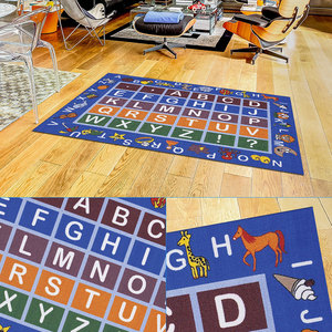 Image 3 - Baby Play Mat Letter Number Children Game Rug Kids Toys Anti slip Soft Plush Carpet Puzzle Learning Gym Flannel Playmat