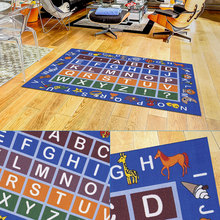 Baby Play Mat, Playtime Collection ABC, Numbers and Shapes Educational Area Rug Colours Carpet Modern Extra Large Thick Dense Pile