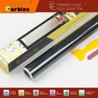 1 64 9 84ft 5D Glossy Real Carbon Fiber Vinyl For Car Motorcycle For Bike For