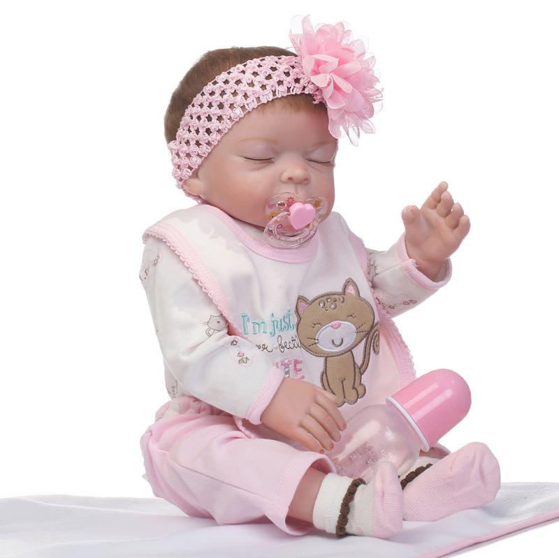 20 Full Silicone Reborn Girl Baby Doll Toy Lifelike handmade modeling infant dolls baby 50cm play house bonecas for sale20 Full Silicone Reborn Girl Baby Doll Toy Lifelike handmade modeling infant dolls baby 50cm play house bonecas for sale